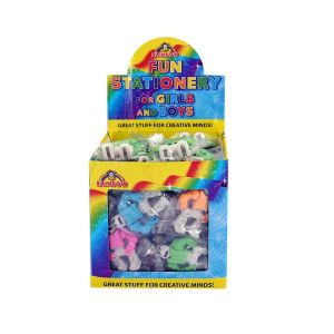 60 x Robots - Novelty Erasers Rubbers Wholesale Bulk Buy